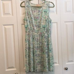 Skies Are Blue Floral Dress M